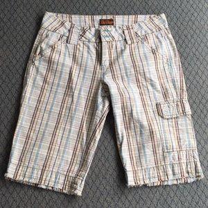 BeBop Bermuda Styled Plaid Shorts Size 9